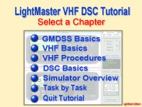 Index of training modules in VHF Radio tutor.